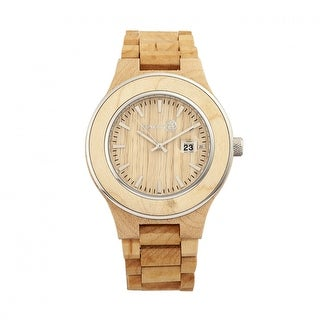Earth Wood Cherokee Unisex Quartz Watch, Wood Band, Luminous Hands