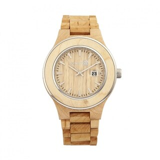 Earth Wood Cherokee Unisex Quartz Watch, Wood Band, Luminous Hands