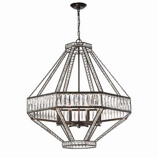 "Eurofase Lighting 31884 Bellezza 8 Light 33"" Wide Crystal Chandelier with Crystal Accents"