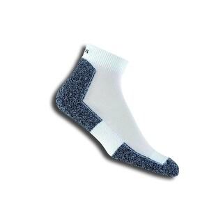 Thorlo Men's Lite Running Mini Crew Sock, White/Black, Large (Shoe Size 9-12.5) - large/12 men's 10.5-11.5