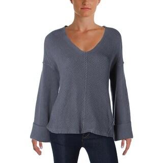 Free People Womens La Brea Tunic Sweater Cuffed Long Sleeves