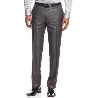 INC International Concepts Milan Slim Fit Shiny Dress Pants Charcoal - 36