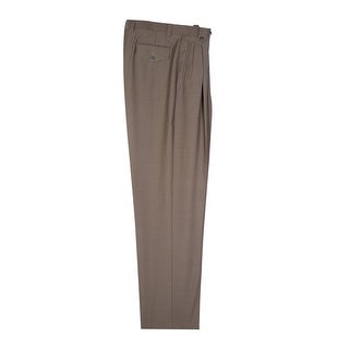 Olive Wide Leg Dress Pants Pure Wool by Tiglio Luxe
