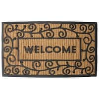 "J & M Home Fashions 7722 Light Swirls Welcome Doormat, 18"" x 30"""