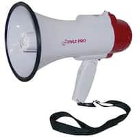 Pyle Megaphone Speaker PA Bullhorn with Built-in Siren & LED Lights