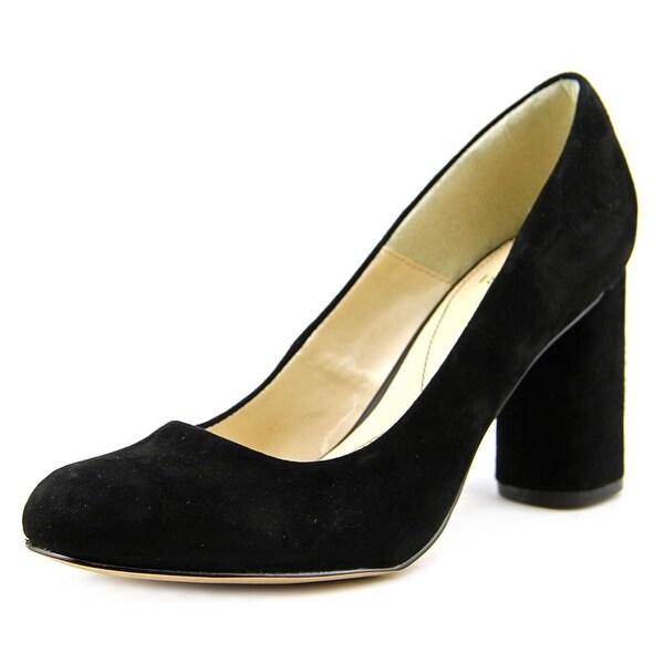 Isola Elaine Women Round Toe Suede Black Heels