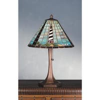 "Meyda Tiffany 69409 21"" H Cape Hatteras Lighthouse Table Lamp - n/a"