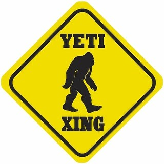 Funny Metal Crossing Sign - Yeti Xing