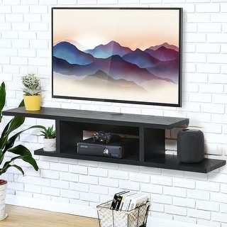 Link to FITUEYES Wall Mounted Media Console Floating TV Stand Component Shelf,Black Grain,DS211801WB - 55 inches Similar Items in TV Mounts & Stands