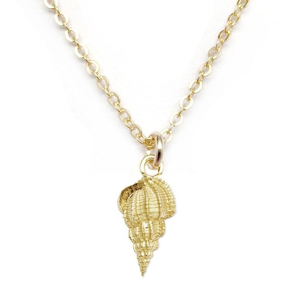 "Julieta Jewelry Seashell Gold Charm 16"" Necklace"