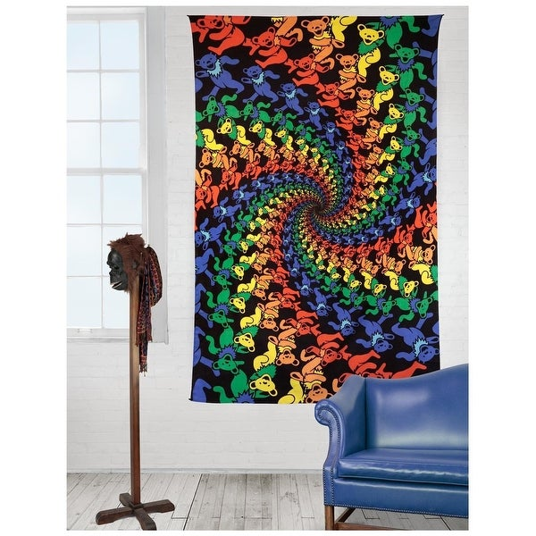 Shop Handmade 100% Cotton Grateful Dead 3D Dancing Bears Spiral ...