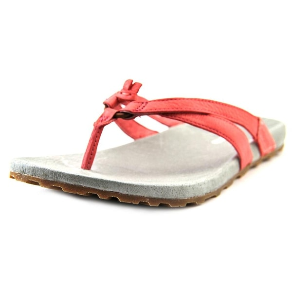 Patagonia Poli Thong Women  Open Toe Leather Pink Flip Flop Sandal