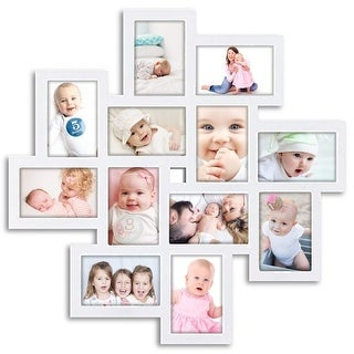 Link to HELLO LAURA 12 Opening Decorative Wall Hanging Collage Puzzle Picture Photo Frame Similar Items in Decorative Accessories