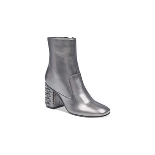 Guess Womens Madeup Leather Square Toe Ankle Fashion Boots