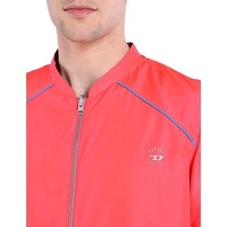 Diesel Roger 00SFLD Reversible Windbreaker Jacket Pink and Blue X-Large