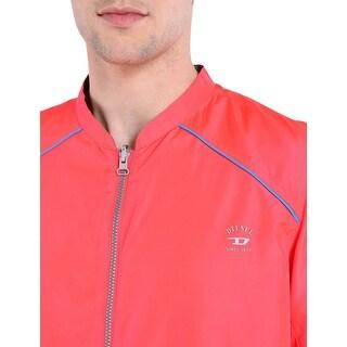 Diesel Roger 00SFLD Reversible Windbreaker Jacket Pink and Blue XX-Large