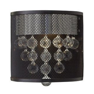 Fredrick Ramond FR38900BLK 1 Light Flush Mount Wall Sconce from the Fiona Collection