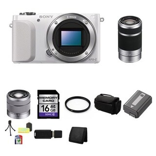 Sony Alpha NEX-3N/W y (White) + Sony E 55-210mm F4.5-6.3 Lens for Sony NEX Cameras SEL55210 Bundle