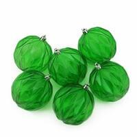 Green Transparent Rhombus Cut Shatterproof Christmas Ball Ornaments
