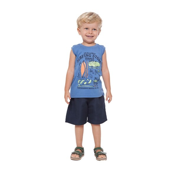 Toddler Boy Tank Top Little Boy Graphic Muscle Shirt Summer Pulla Bulla 1-3 Year