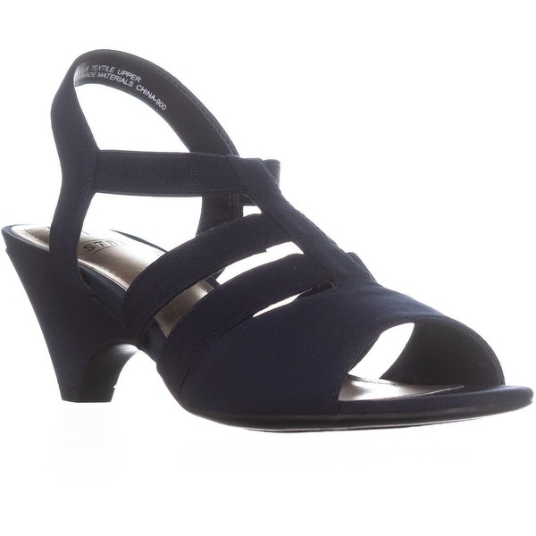 Impo Estella Ankle Strap Strappy Sandals, Navy - 6 us