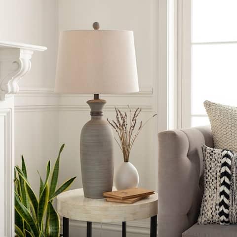 "Corrine Classic Grey 28.5-inch Table Lamp - 28.5""H x 14""W x 14""D"