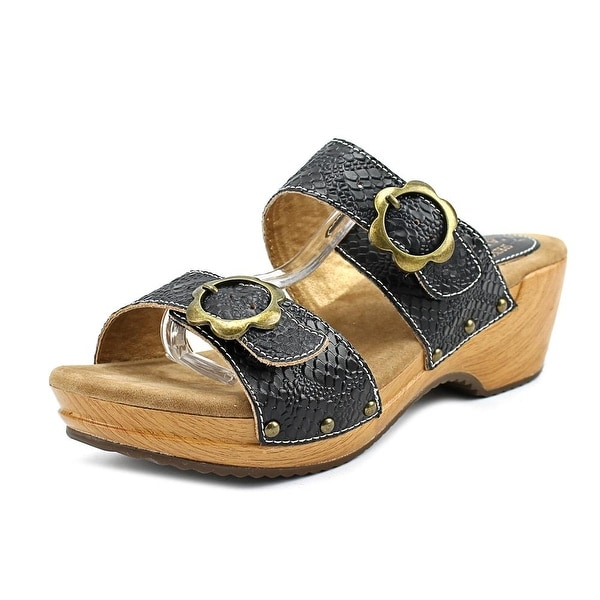 L'Artiste Mittie Women Open Toe Leather Slides Sandal