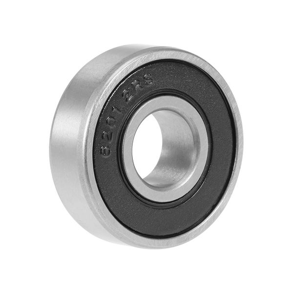 6201-2RS Deep Groove Ball Bearing 12x32x10mm Double Sealed Carbon Steel Bearings - Pack of 1 - 6201-2RS (12*32*10)