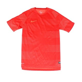 Nike NEW Red Mens Size Large L Logo Stretch Shirts & Tops Athletic Apparel 002
