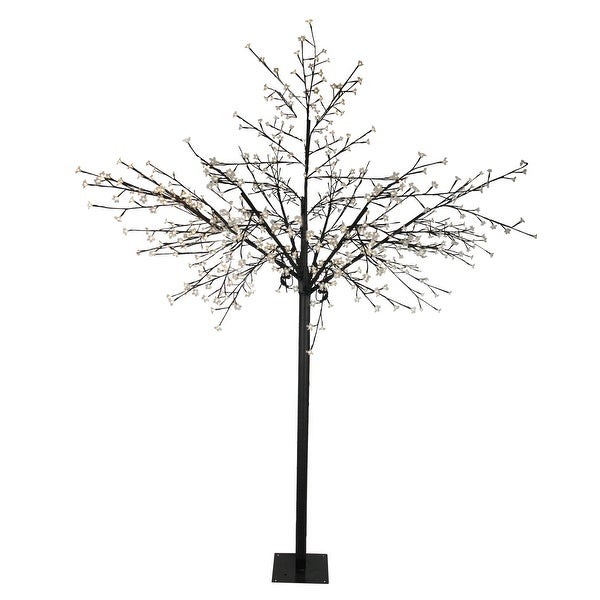 8ad9fa72fa51 Shop 8' Multi-Function LED Lighted Cherry Blossom Flower Tree - Warm White  Lights - 7-to-8-feet - Free Shipping Today - Overstock - 16554421