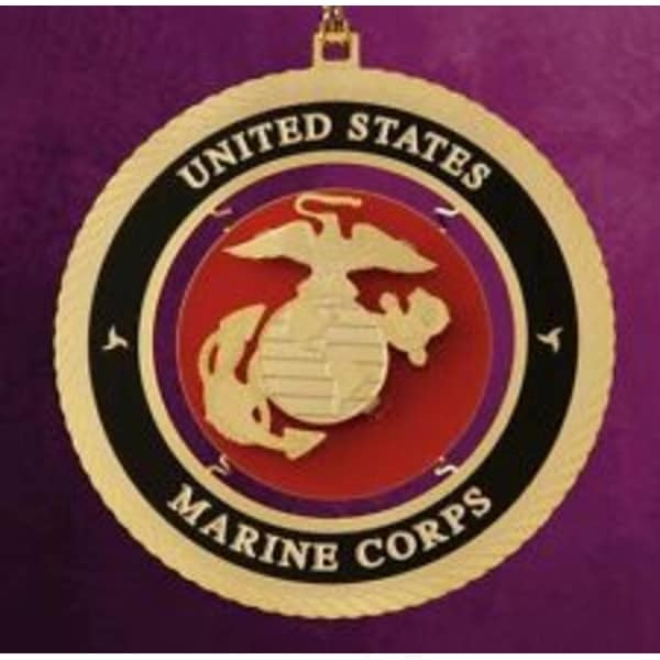 """ChemArt 2.5"""" Collectible Keepsakes United States Marine Corps Christmas Ornament"""