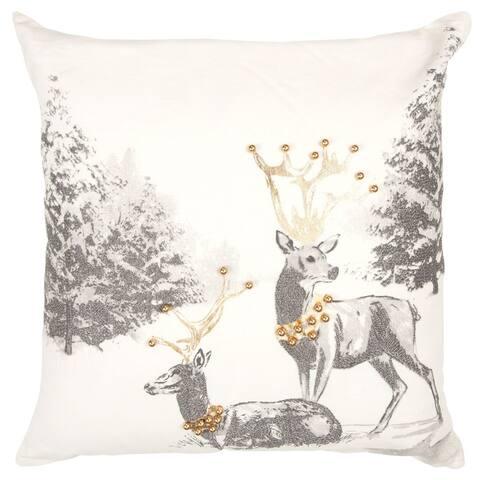 "Rizzy Home Metallic Animal 20""X 20"" Decorative Pillow"