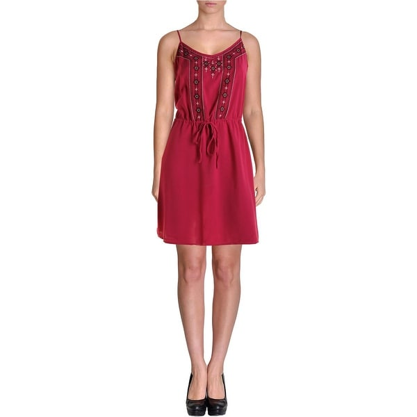 Sanctuary Womens Sundress Embroidered Shift