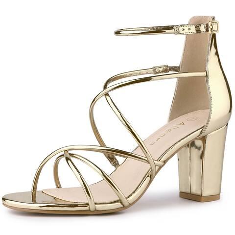 Women's Strappy Heels Block Heel Sandals
