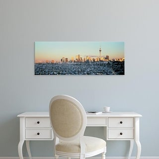Easy Art Prints Panoramic Images's 'Harbor, Auckland, New Zealand' Premium Canvas Art