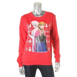 Frozen Womens Juniors Pullover Sweater Knit Graphic - M