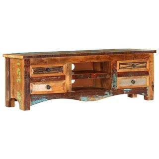 "vidaXL TV Cabinet 47.2""x11.8""x15.7"" Solid Reclaimed Wood"