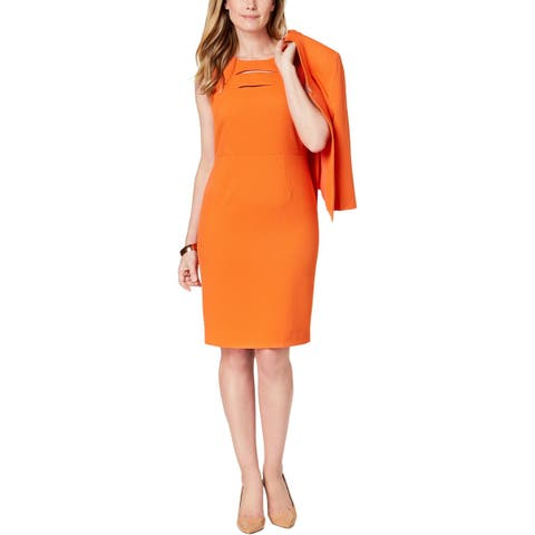 8efdb18f6e Kasper Womens Valencia Wear to Work Dress Sleeveless Knee-Length
