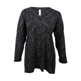 Ideology Women's Plus Size Space-Dyed Top