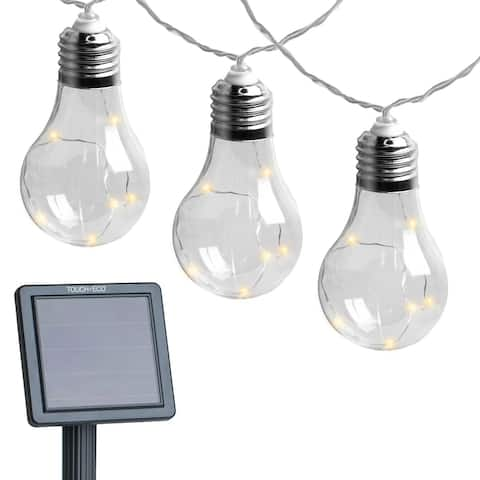 Early Edison Solar Powered LED String Light Bulbs - 2 Pack - 2 Pack