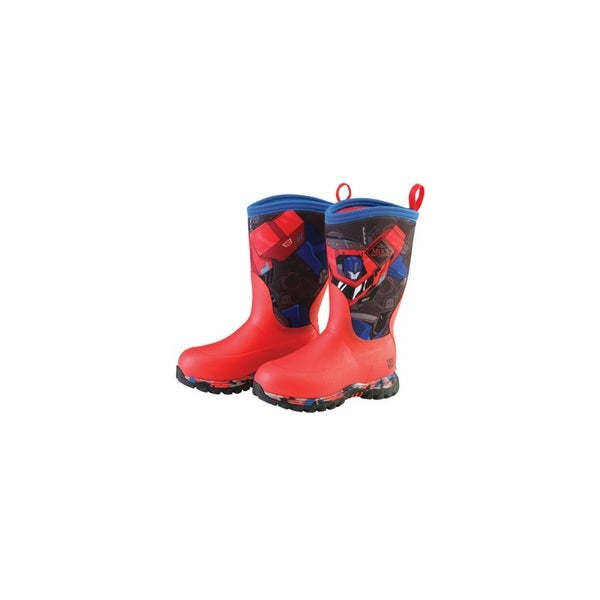 d8ad266a17c Muck Boots Optimus Prime Youths Rugged II Hasbro Extreme Winter Boots -  Size 2
