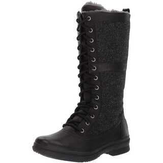 Ugg Womens Elvia Leather Round Toe Mid-Calf Cold Weather Boots