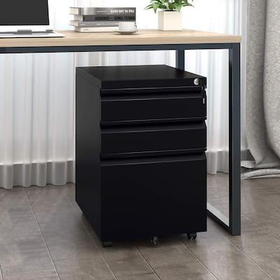 Superday 3-drawer Locking Rolling Metal File Cabinet