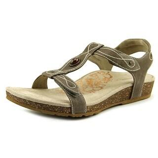 Aetrex Lori Women Open-Toe Leather Slingback Sandal