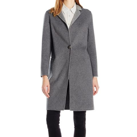 Nanette Lepore Gray Women's Size Medium M Single Breasted Coat