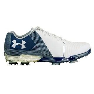 Under Armour Men's UA Spieth II Golf Shoes - white/academy