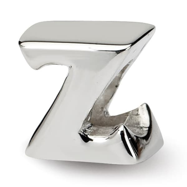 Sterling Silver Reflections Letter Z Bead (4mm Diameter Hole)