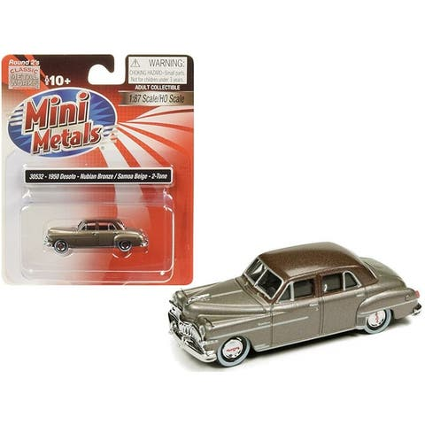1950 DeSoto Nubian Bronze with Samoa Beige Top 1/87 (HO) Scale Model Car by Classic Metal Works