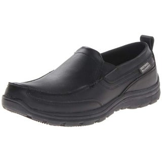 Skechers For Work Men's Hobbes Relaxed Fit Slip Resistant Work Shoe