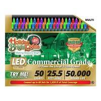 Holiday Bright Lights LEDBX-T550-MU 50 Light Multi T5 LED Light Set